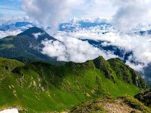 The Marmarosy ridge, hiking in the Carpathians, Ukraine